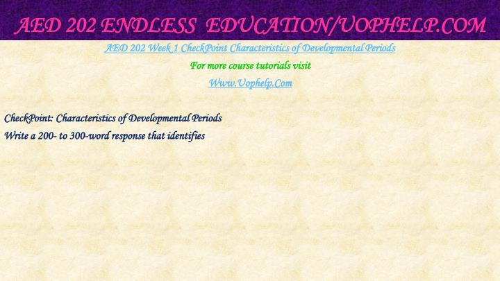 Aed 202 endless education uophelp com2