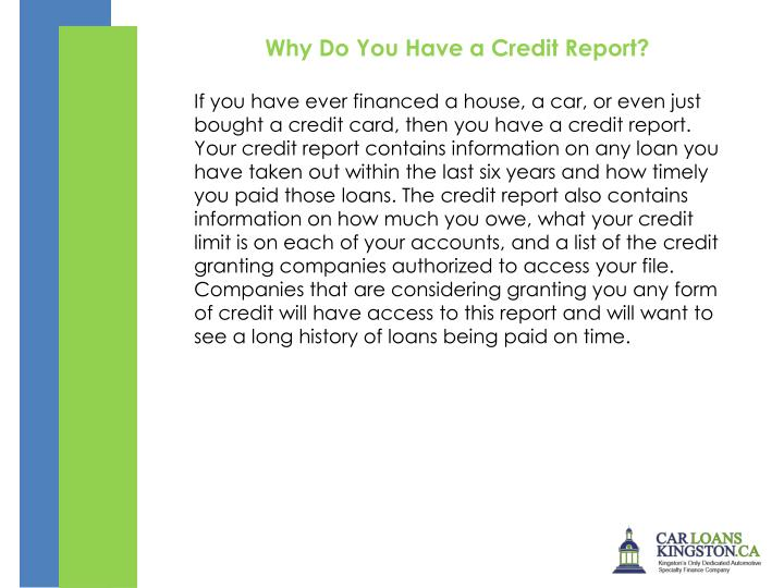 Why Do You Have a Credit Report?
