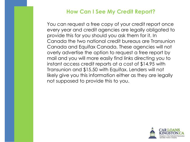 How Can I See My Credit Report?