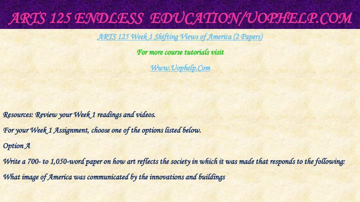 Arts 125 endless education uophelp com2