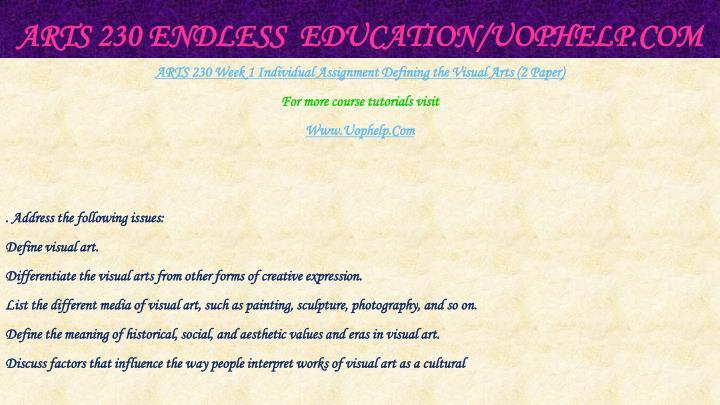 Arts 230 endless education uophelp com2