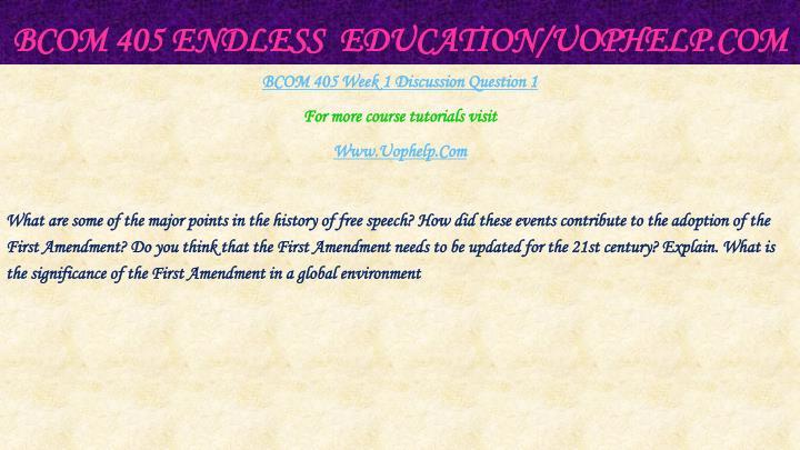 Bcom 405 endless education uophelp com2
