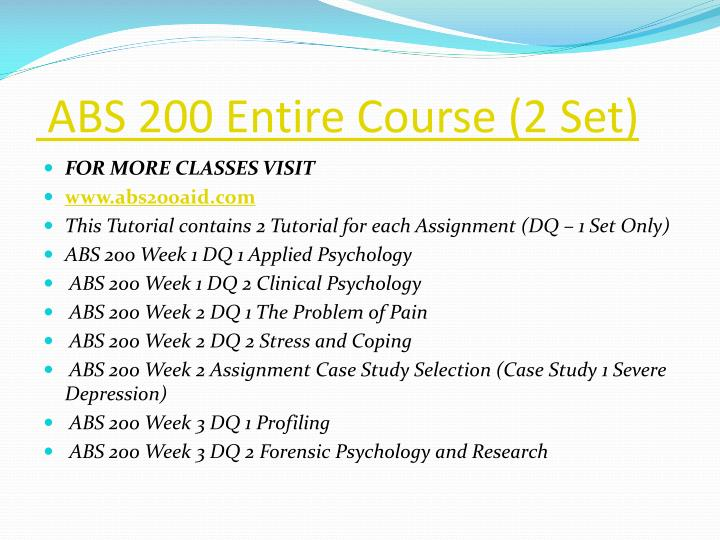 Abs 200 entire course 2 set