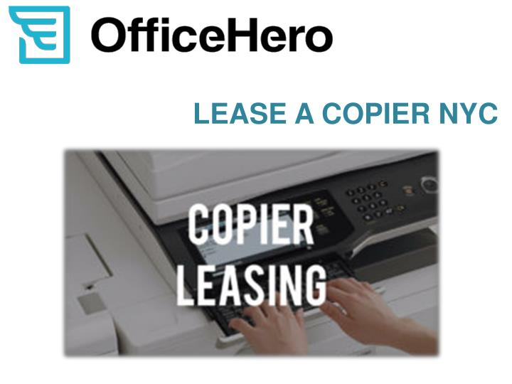 lease a copier nyc n.