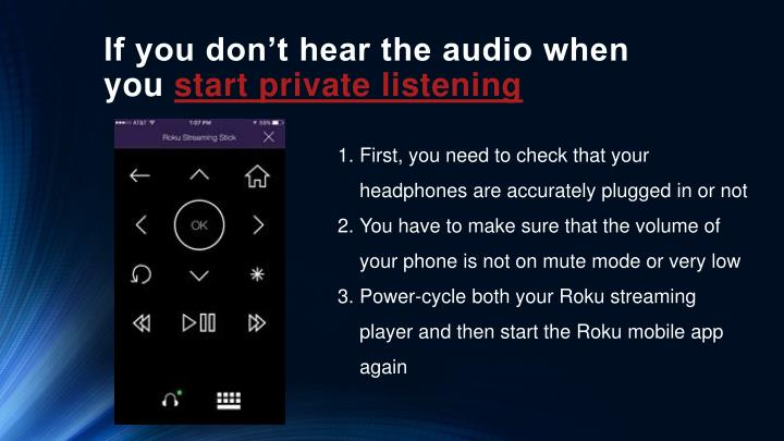 If you don't hear the audio when you