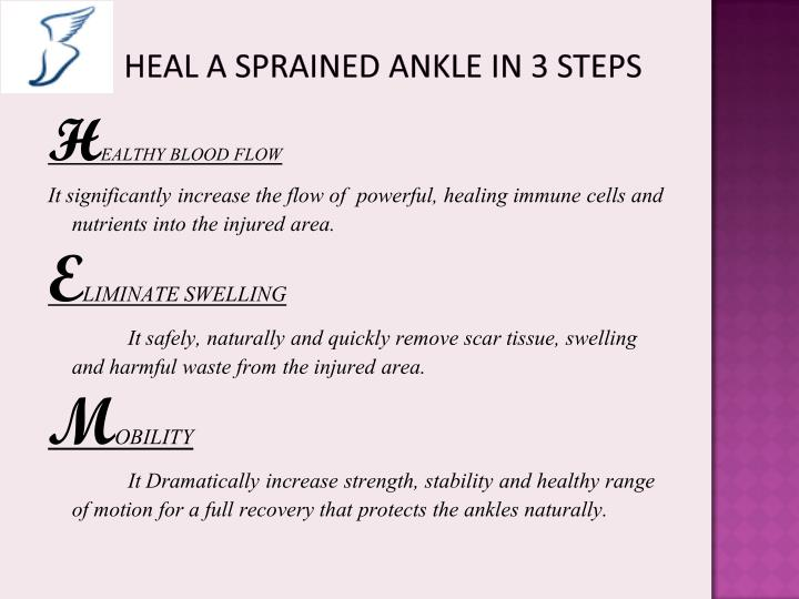 Heal a rolled ankle fast