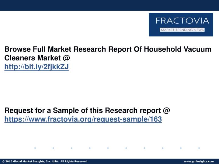 Browse Full Market Research Report Of Household Vacuum Cleaners Market @