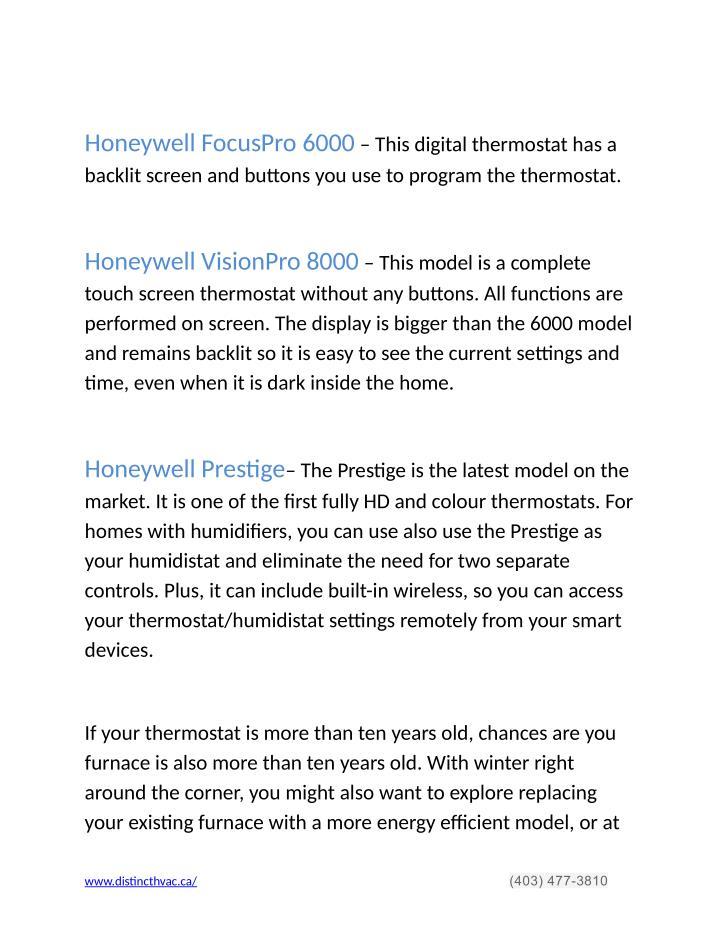 Honeywell FocusPro 6000