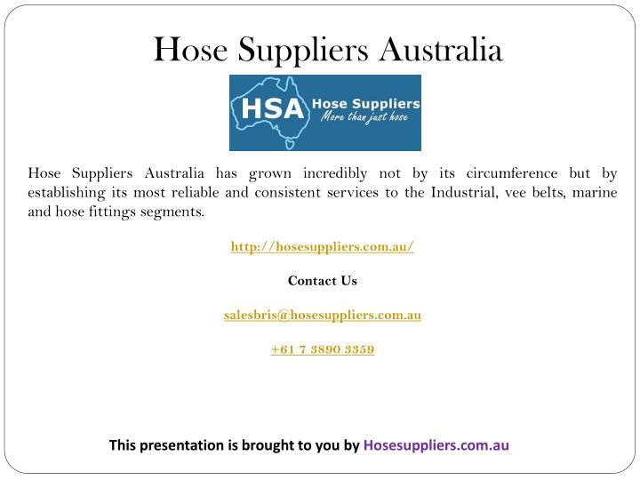Hose Suppliers Australia