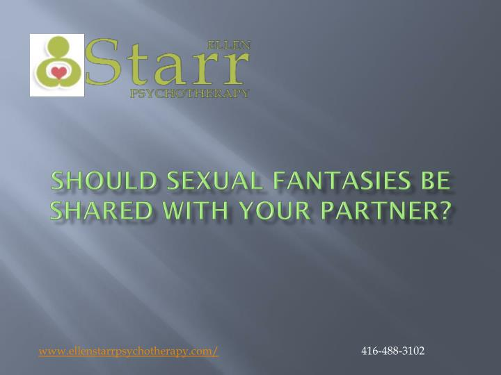 should sexual fantasies be shared with your partner