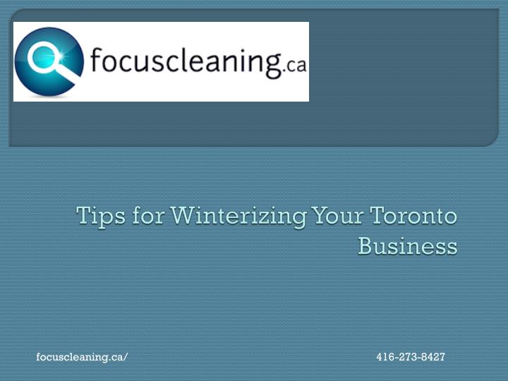 tips for winterizing your toronto business