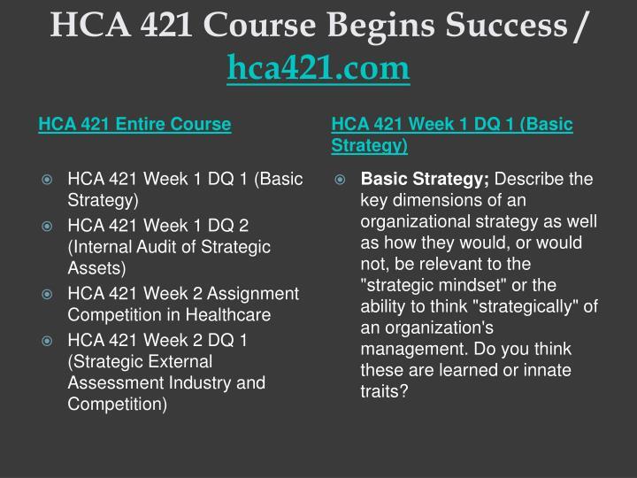 Hca 421 course begins success hca421 com1
