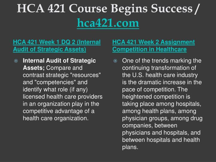 Hca 421 course begins success hca421 com2