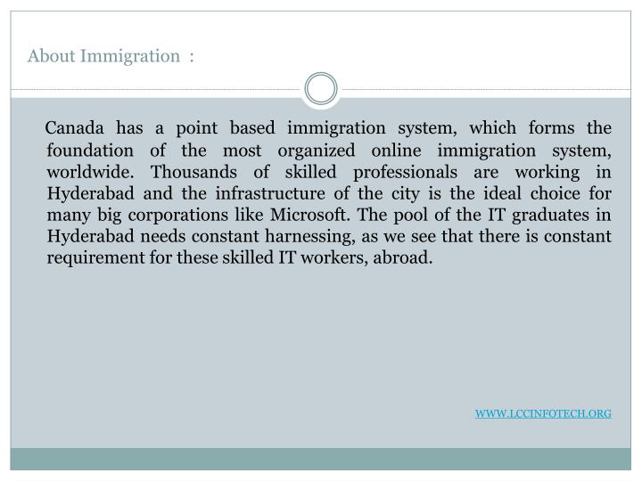About immigration