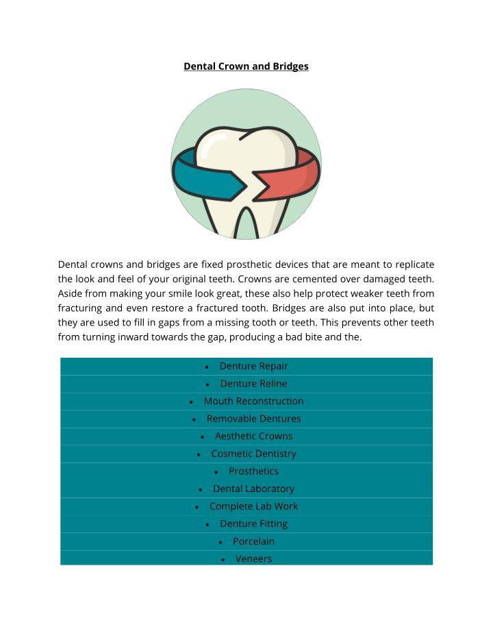 Dental Crown and Bridges