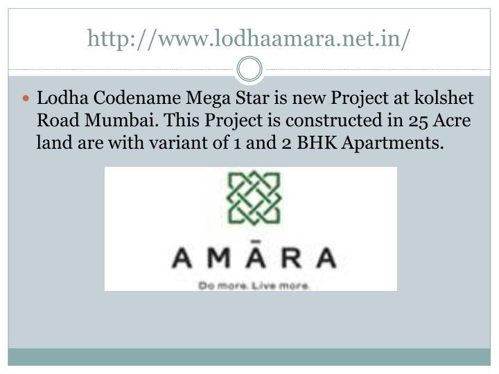 Http www lodhaamara net in