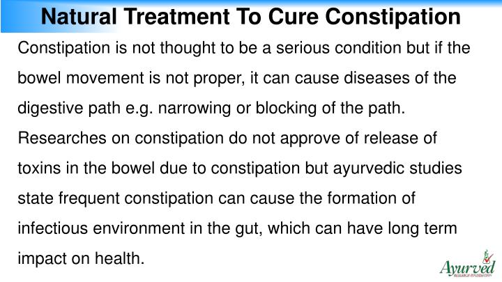 Natural Treatment To Cure Constipation