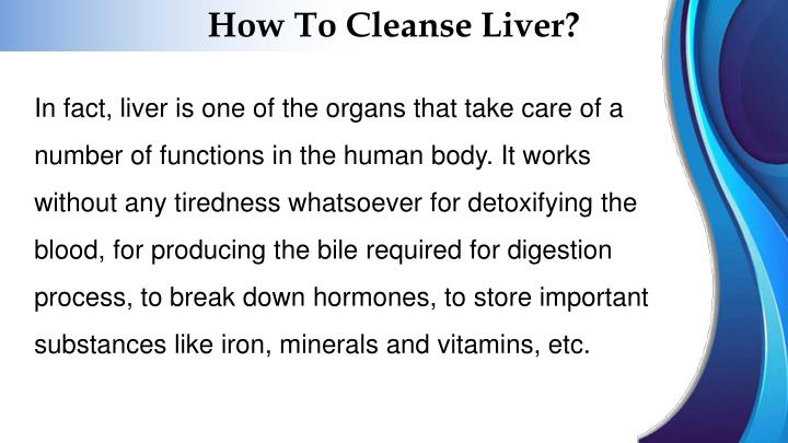 How To Cleanse Liver?