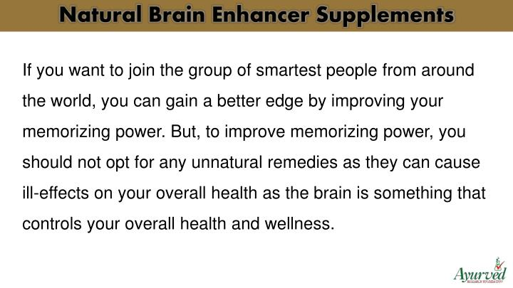 Natural Brain Enhancer Supplements