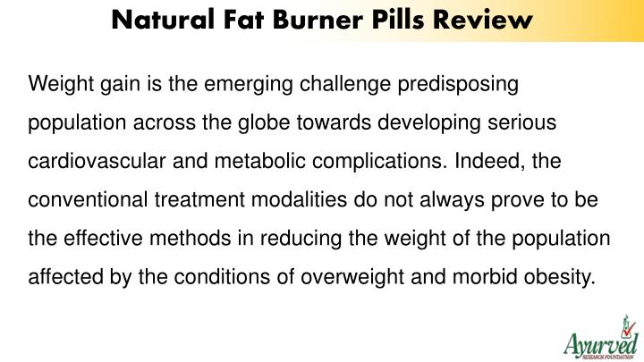 Natural Fat Burner Pills Review