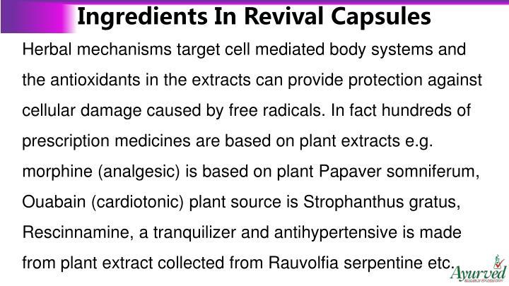 Ingredients In Revival