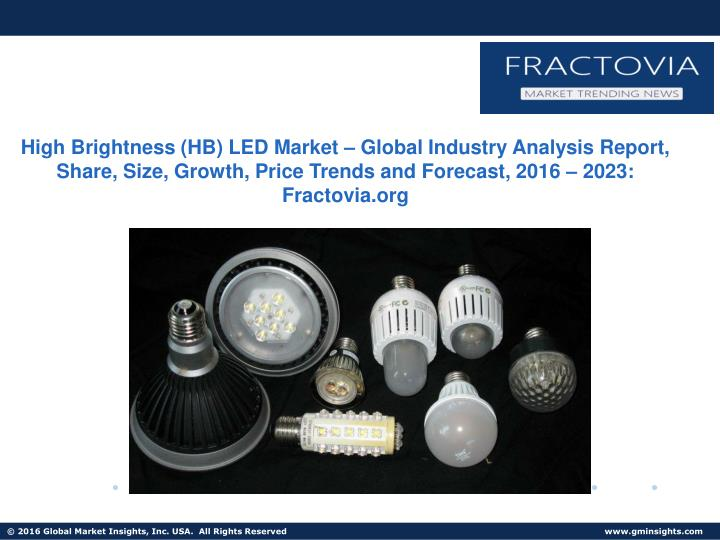 High Brightness (HB) LED Market – Global Industry Analysis Report, Share, Size, Growth, Price Tren...