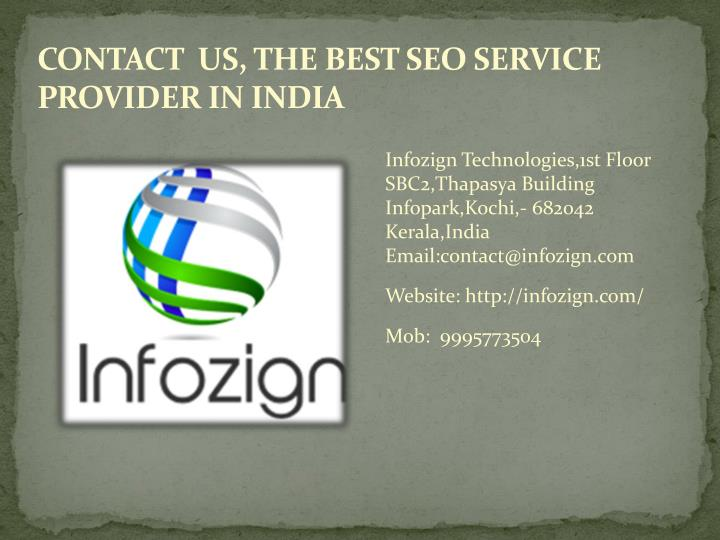CONTACT  US, THE BEST SEO SERVICE PROVIDER IN INDIA