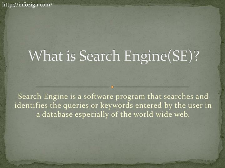 What is search engine se