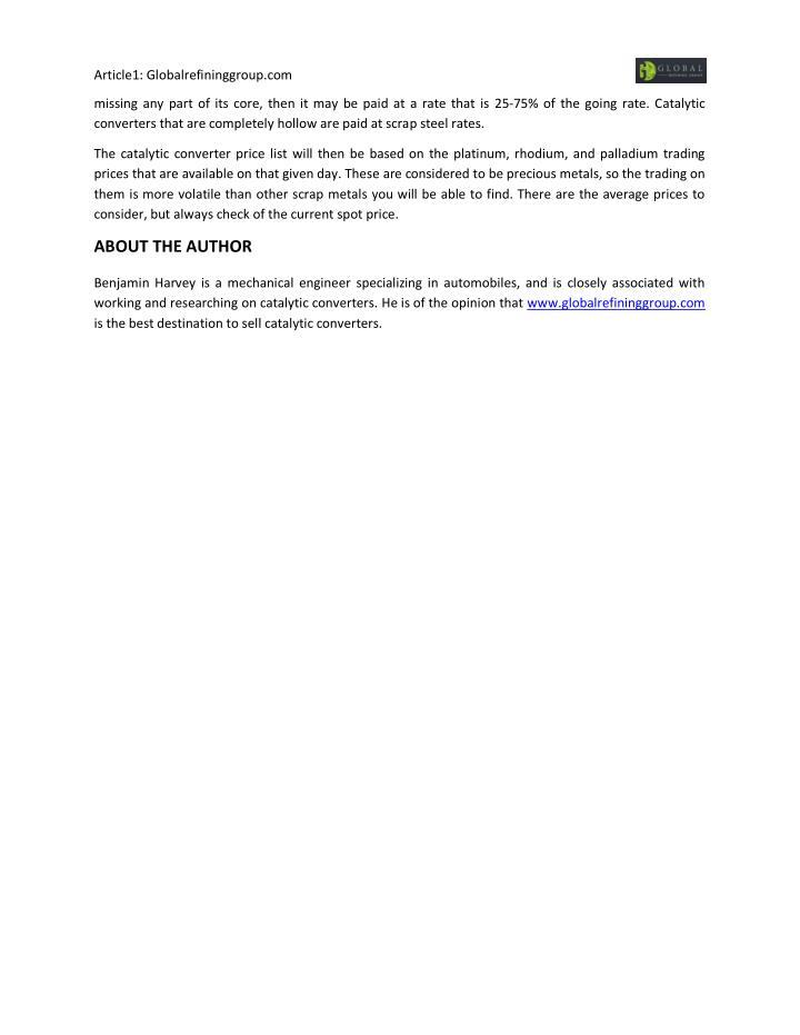 Article1: Globalrefininggroup.com