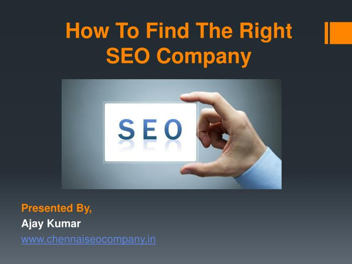 how to find the right seo company n.
