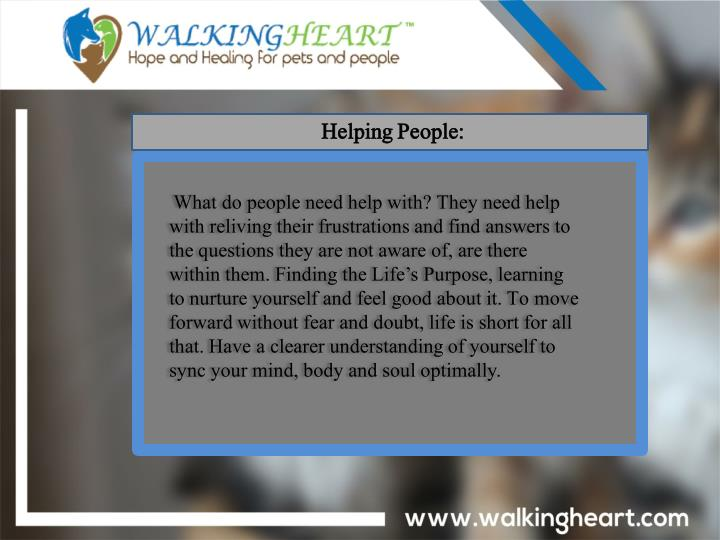 Helping People: