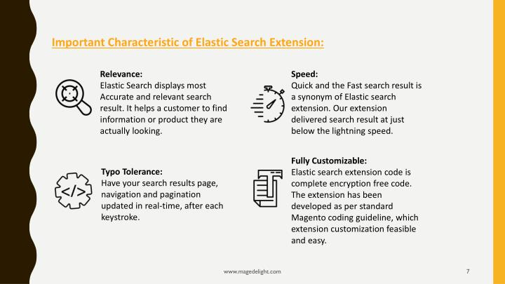 Important Characteristic of Elastic Search Extension: