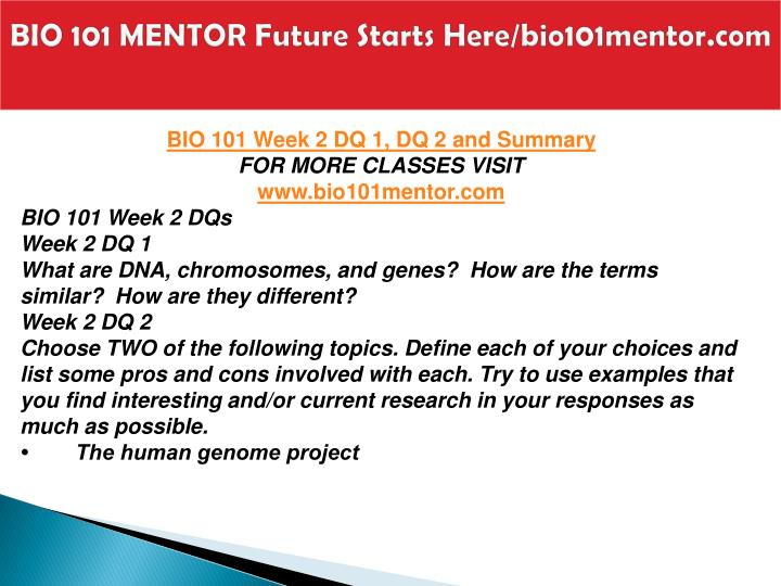 what is bio 101