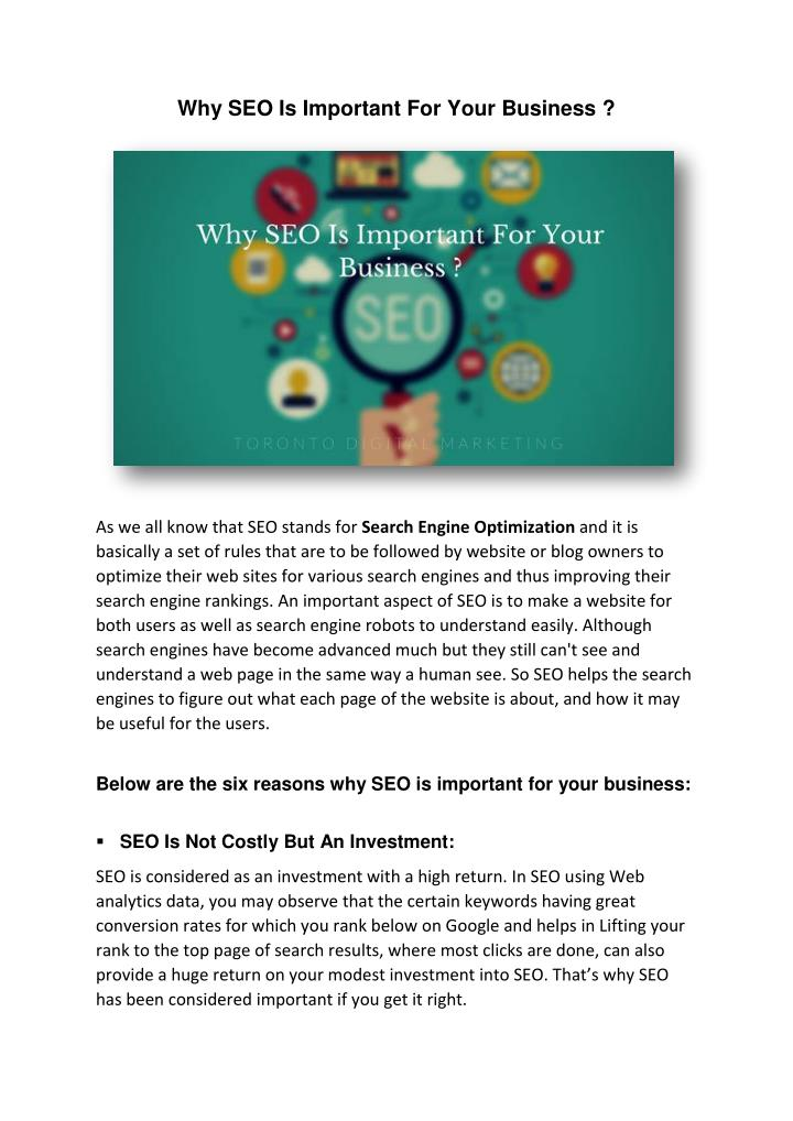 Why SEO Is Important For Your Business ?