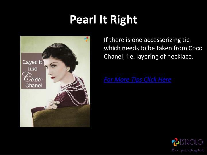 Pearl It Right