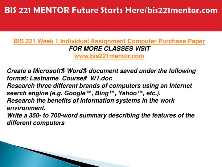 Bis 221 mentor future starts here bis221mentor com2