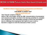 bcom 231 rank future starts here bcom231rank com11