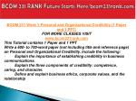 bcom 231 rank future starts here bcom231rank com4