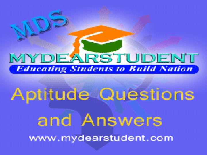 Online aptitude questions and answers