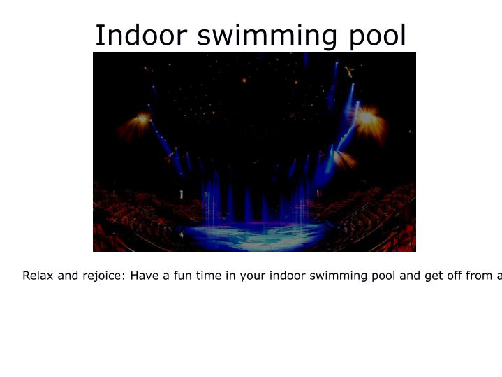 indoor swimming pool n.