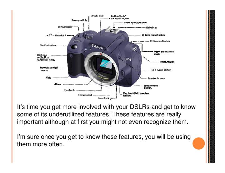 It's time you get more involved with your DSLRs and get to know
