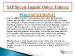 sap simple logistic online training7