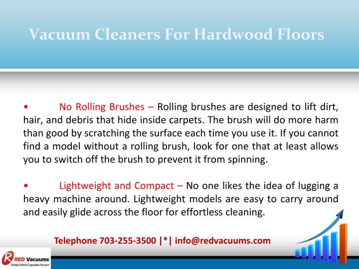 Vacuum Cleaners For Hardwood Floors