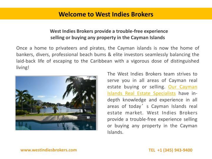 Welcome to West Indies Brokers