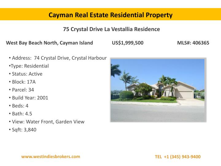Cayman Real Estate Residential Property
