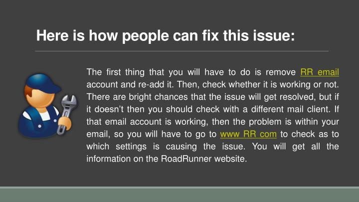 Here is how people can fix this issue: