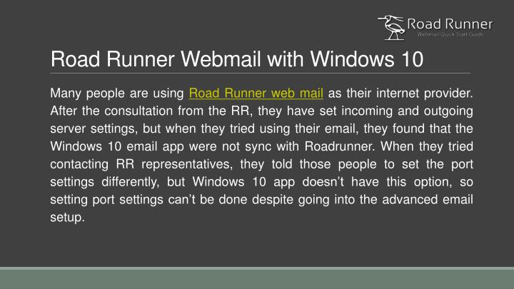 Road Runner Webmail with Windows 10