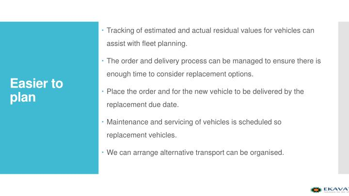 Tracking of estimated and actual residual values for vehicles can assist with fleet planning.