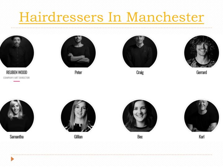 Hairdressers in manchester