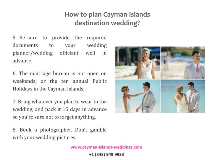 How to plan Cayman Islands destination wedding?